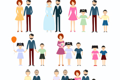 Link to8 family icon vector