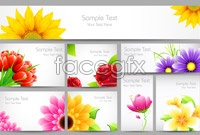 Link to8 flowers card background vector map