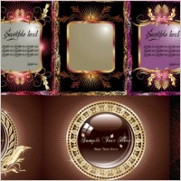 Link to8 gold pattern vector graphic