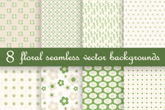 Link to8 green seamless background pattern vector
