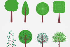 Link to8 green tree design vector graph