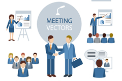 Link to8 meeting of character design vector