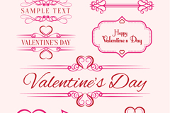 Link to8 pink valentine pattern vector
