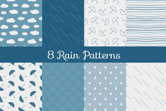 Link to8 rain elements seamless vector background