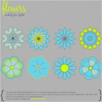Link to8 simple vector flowers
