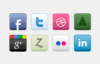 Link to8 social icons psd