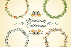Link to8 wedding garlands and decoration flowers vector