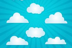 8 white clouds design vector graph