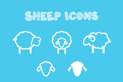 Link to8 white sheep icon vector