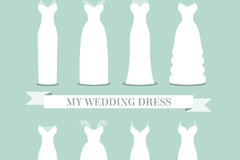 Link to8 white wedding dress design vector