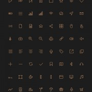 Link to80 kind golden stroke icons free