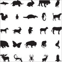 Link to88 free vector animal silhouettes