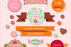 Link to9 bake food label vector