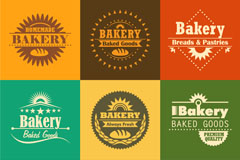 Link to9 bake pastry logo vector