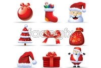 Link to9 beautiful christmas theme icons vector art