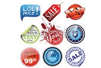 Link to9 beautiful labels vector art s