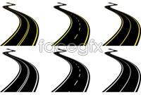 Link to9 bending roads vector