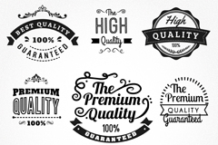Link to9 black quality label vector diagrams