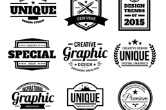 Link to9 black quality label vector
