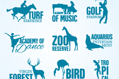 Link to9 blue education campaigns and nature symbol vector
