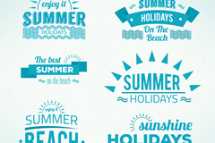 Link to9 blue summer tag vector