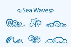 Link to9 blue wave design vector