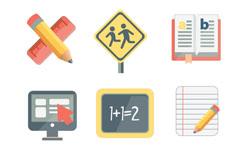 9 campus icon design vector