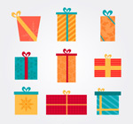 Link to9-card gift box vector