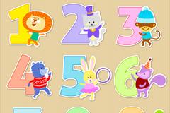 Link to9 cartoon animal decoration digital vector