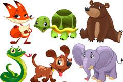 Link to9 cartoon animal design vector