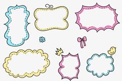 Link to9 cartoon border design vector