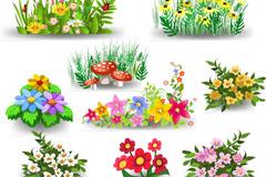 Link to9 cartoon-flower design vector