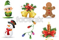 Link to9 christmas gift icons vector