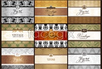 Link to9 classical pattern business card background vector