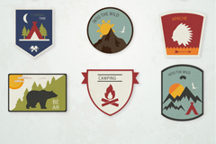 Link to9 classy camping tag vector