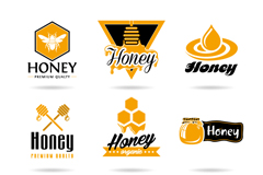 9 classy honey logo design vector