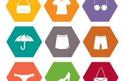 Link to9 clothing and accessories icon vector