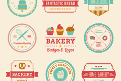 Link to9 color bakery label vector diagrams