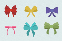 Link to9 color bow vector