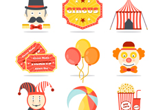 Link to9 color circus icon vector