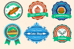 Link to9 color food label vector