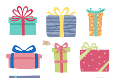 Link to9 color gift box vector