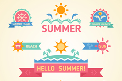 Link to9 color summer tag vector