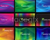 Link to9 colorful lines background vector