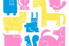 Link to9 colour animal design vector