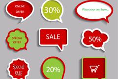 Link to9 colour creative sales bubble vector