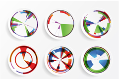 Link to9 colour radar vector background
