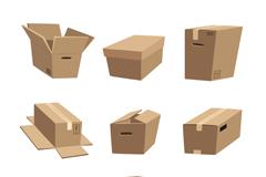 Link to9 creative cardboard box vector