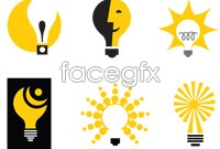 Link to9 creative light bulb icon vector
