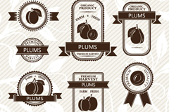 Link to9 creative plum label vector